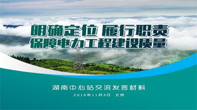 国家电网湖南分公司发言材料PPT